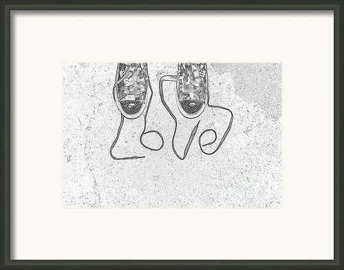 Sneaker Love 2 Framed Print By Paul Ward