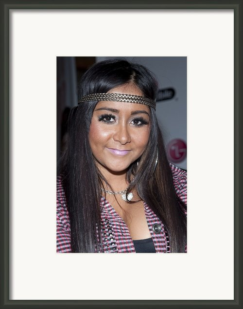 Snooki Nicole Polizzi At A Public Framed Print By Everett