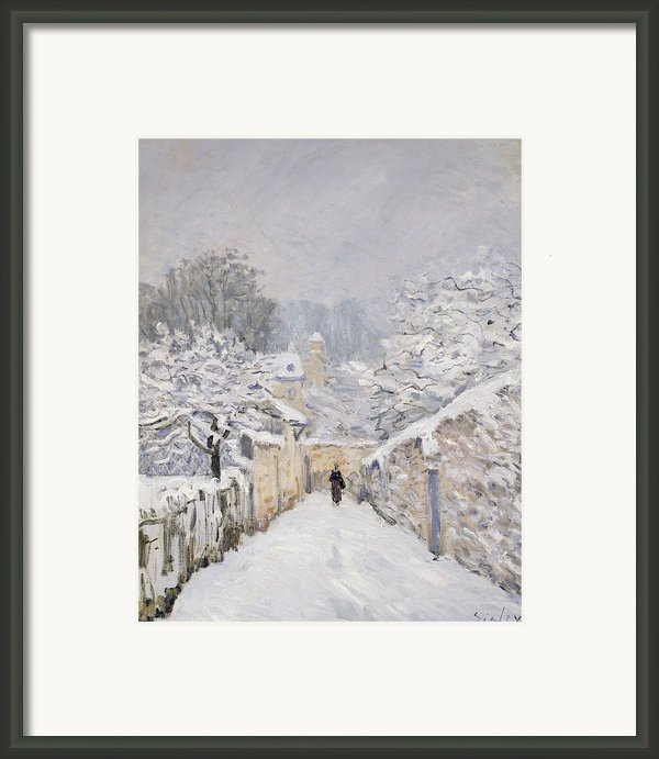Snow At Louveciennes Framed Print By Alfred Sisley