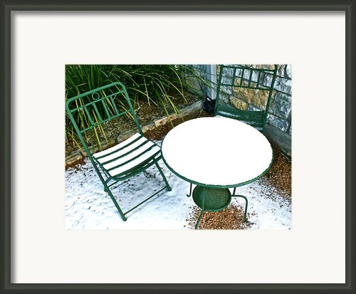 Snow Cafe Framed Print By Mae Photography