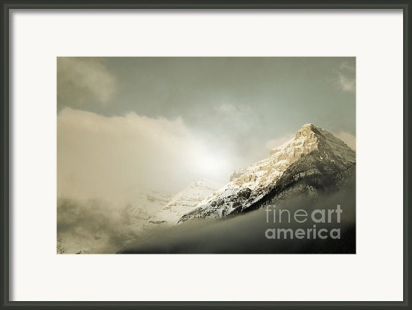 Snow Capped Banff Framed Print By Andrea Hazel Ihlefeld