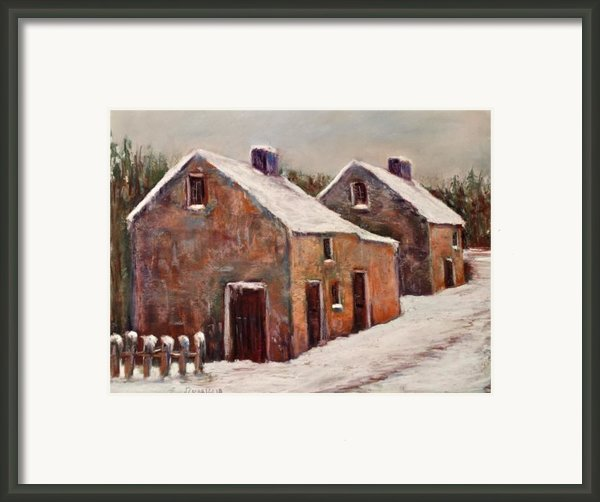 Snow Fall In Ireland Framed Print By Joyce A Guariglia