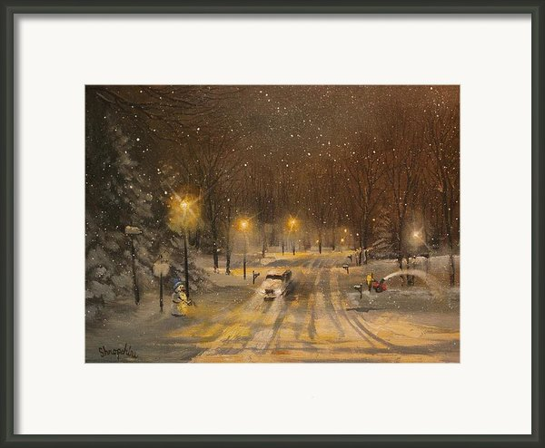 Snow For Christmas Framed Print By Tom Shropshire