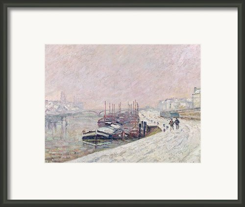 Snow In Rouen Framed Print By Jean Baptiste Armand Guillaumin