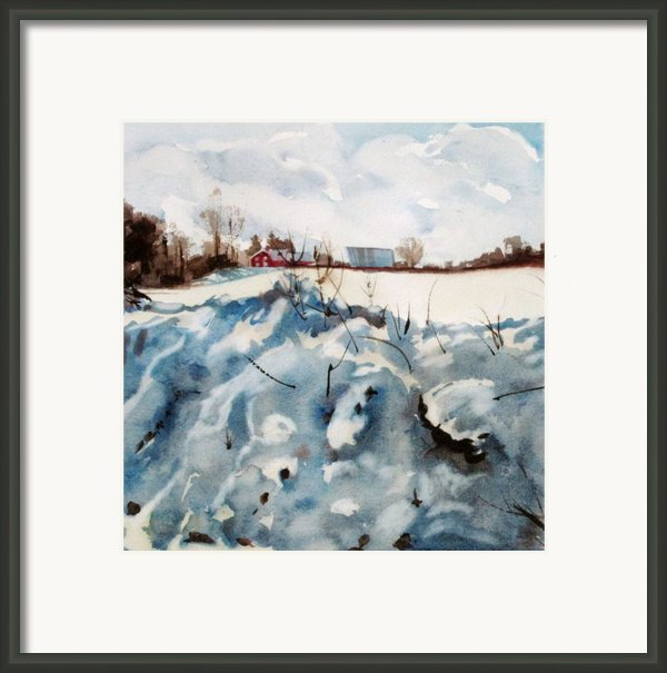 Snow On Southwick Framed Print By Elizabeth Carr