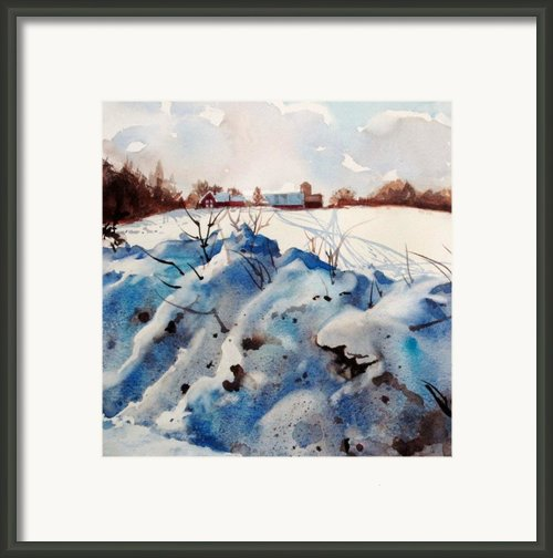 Snow On Southwick I Framed Print By Elizabeth Carr