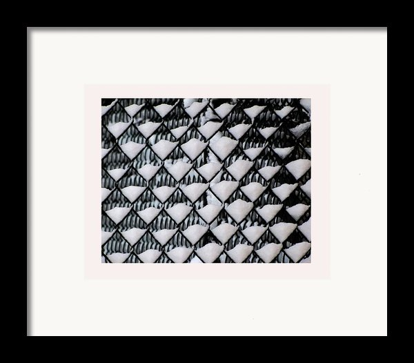 Snow Triangles After Storm Framed Print By Rene Crystal