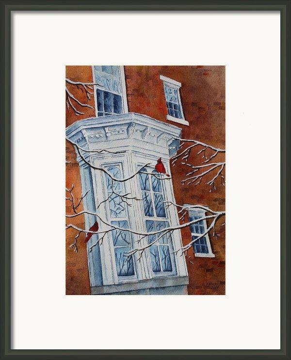 Snowy Bay Framed Print By Patsy Sharpe