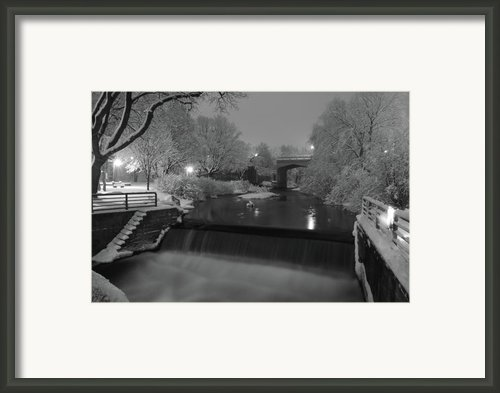 Snowy Bear River Framed Print By Russell Todd
