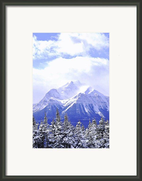 Snowy Mountain Framed Print By Elena Elisseeva