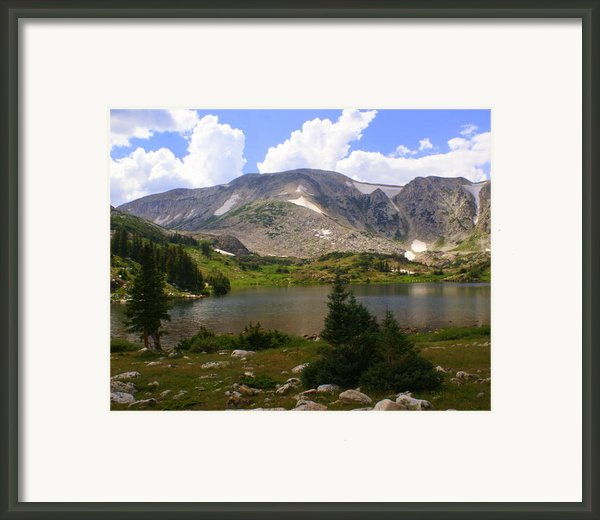 Snowy Mountain Loop 9 Framed Print By Marty Koch