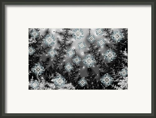 Snowy Night I Fractal Framed Print By Betsy A Cutler East Coast Barrier Islands
