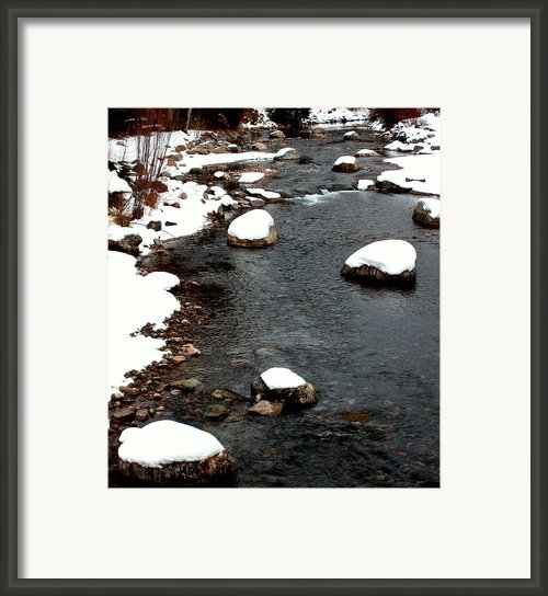 Snowy River Framed Print By The Forests Edge Photography - Diane Sandoval