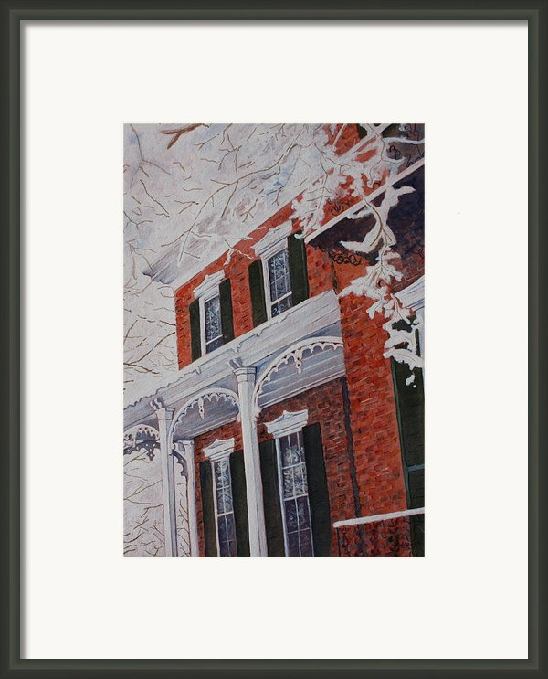 Snowy Yesteryear Framed Print By Patsy Sharpe