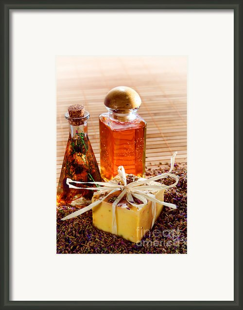 Soap And Fragrance Oils Framed Print By Olivier Le Queinec
