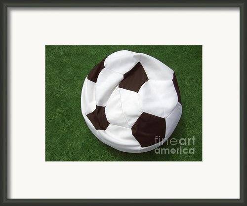 Soccer Ball Seat Cushion Framed Print By Matthias Hauser