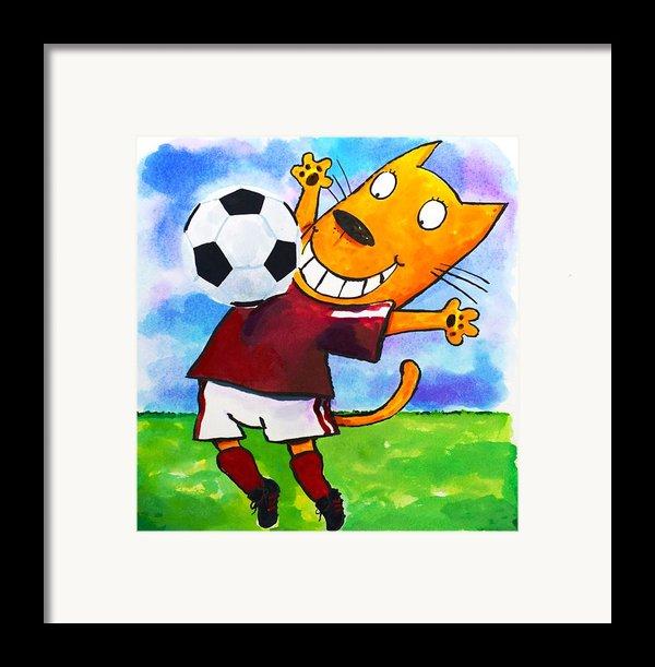 Soccer Cat 3 Framed Print By Scott Nelson