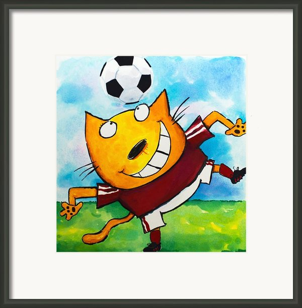 Soccer Cat 4 Framed Print By Scott Nelson