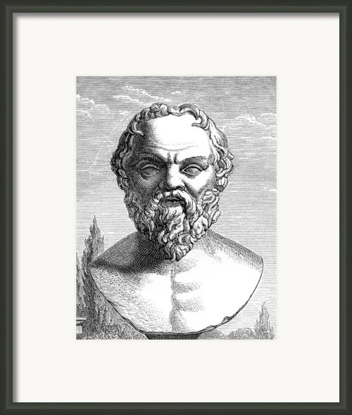 Socrates, Ancient Greek Philosopher Framed Print By