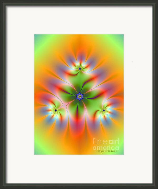 Soft Garden Elements Framed Print By Suzanne Schaefer
