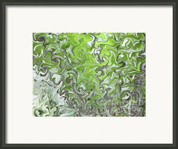 Soft Green And Gray Abstract Framed Print By Carol Groenen