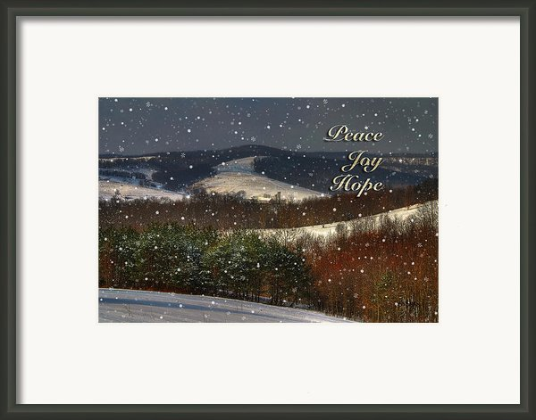 Soft Sifting Christmas Card Framed Print By Lois Bryan