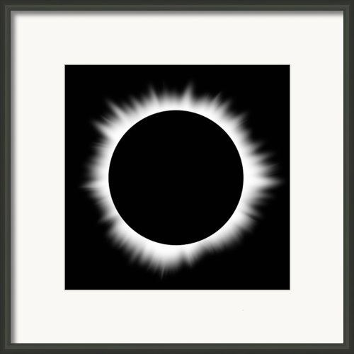 Solar Eclipse With Corona Framed Print By Don Farrall