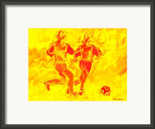 Solar Soccer Framed Print By Stephen Younts