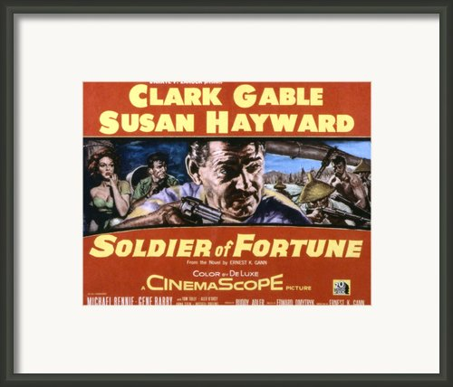 Soldier Of Fortune, Clark Gable, Susan Framed Print By Everett