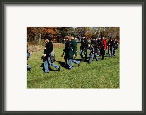 Soldiers March Two By Two Framed Print By Leeann Mclanegoetz Mclanegoetzstudiollccom