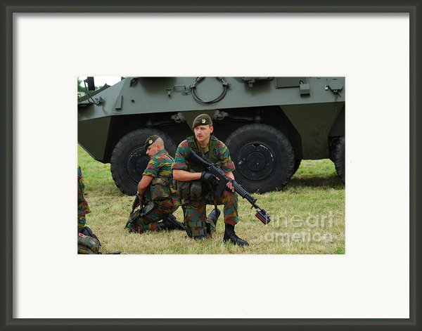 Soldiers Of An Infantry Unit Framed Print By Luc De Jaeger