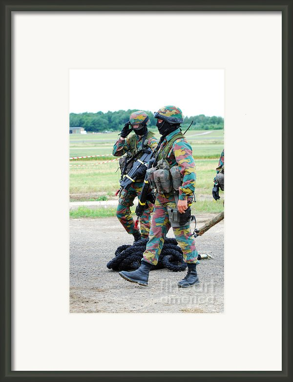 Soldiers Of The Special Forces Group Framed Print By Luc De Jaeger
