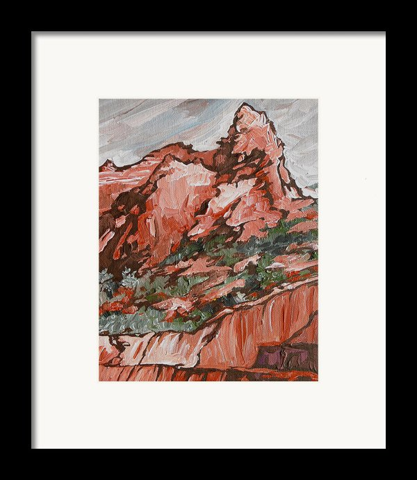 Soldiers Pass Trail Framed Print By Sandy Tracey