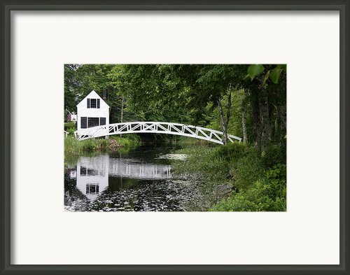 Somesvilles White Bridge Framed Print By Christiane Schulze