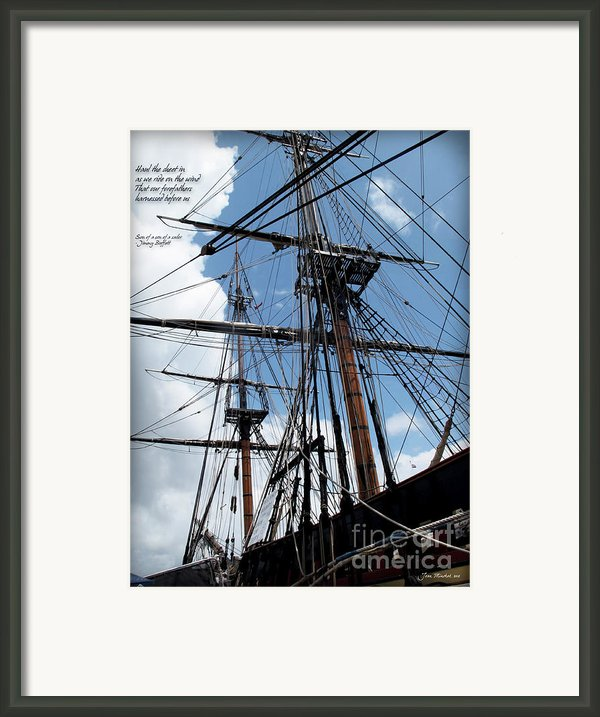Son Of A Son Of A Sailor Quote Framed Print By Joan  Minchak