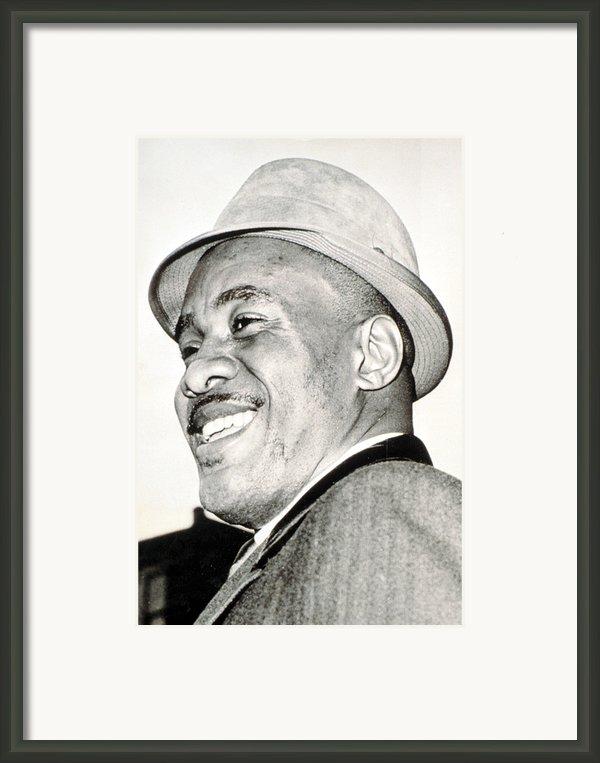 Sonny Liston In Boston, 1964 Csueverett Framed Print By Everett
