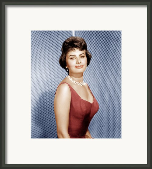 Sophia Loren, Ca. 1950s Framed Print By Everett