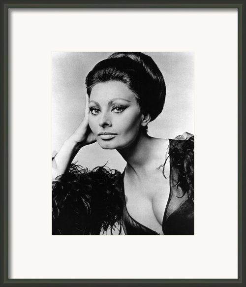 Sophia Loren, In Costume For Arabesque Framed Print By Everett