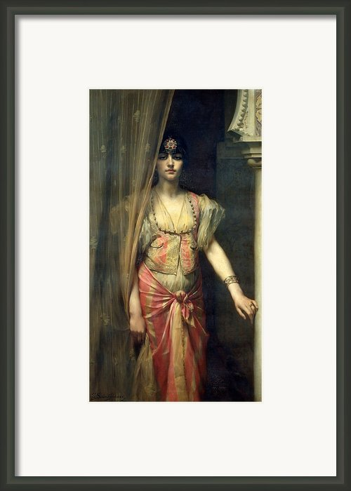 Soudja Sari Framed Print By Gaston Casimir Saint Pierre