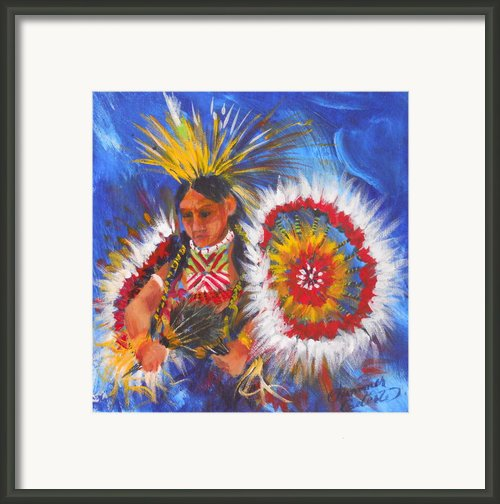 Souix Dancer Framed Print By Summer Celeste