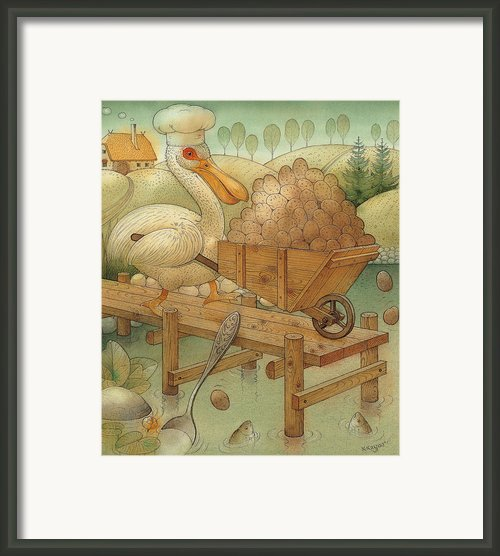 Soup In The Lake Framed Print By Kestutis Kasparavicius