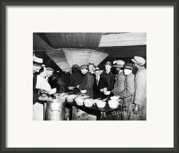 Soup Kitchen, 1931 Framed Print By Granger