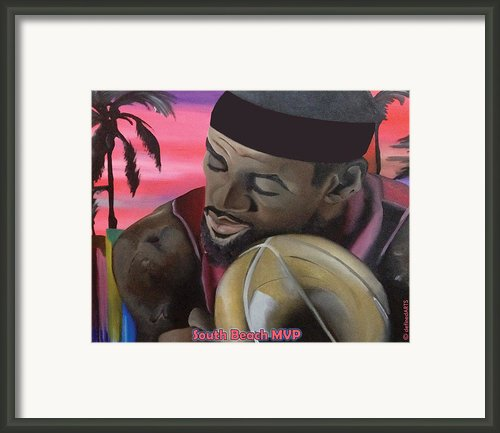 South Beach Lebron Framed Print By Chelsea Vanhook
