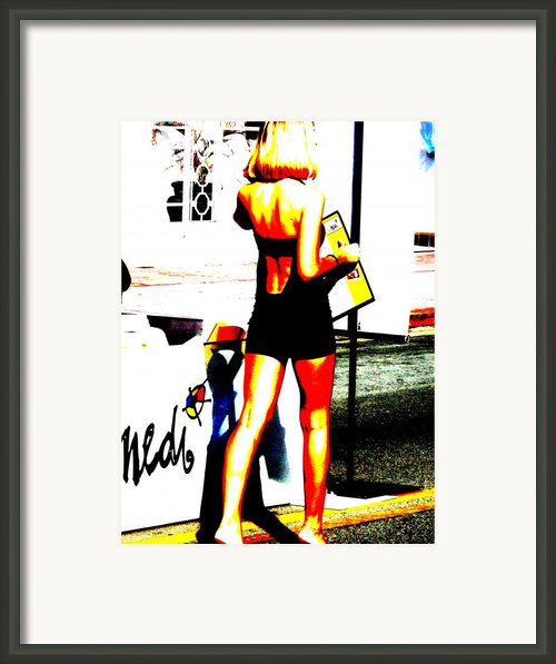 South Beach Waitress Framed Print By Funkpix Photo Hunter