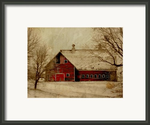 South Dakota Barn Framed Print By Julie Hamilton