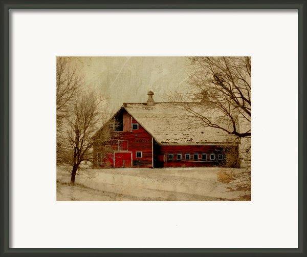 South Dakota Barn Framed Print By Julie Hamilton