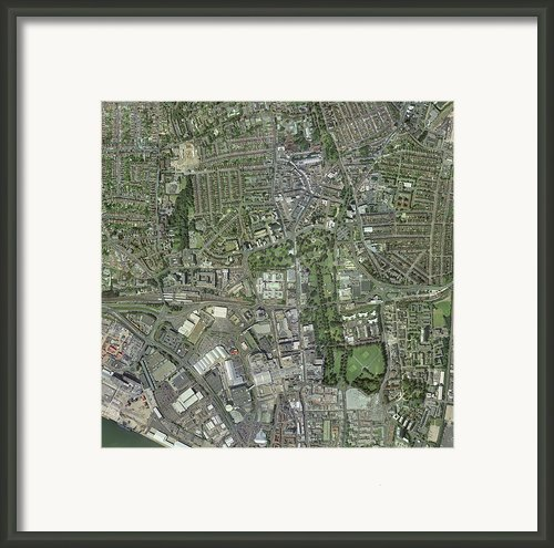 Southampton,uk, Aerial Image Framed Print By Getmapping Plc
