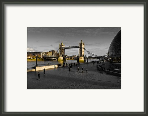 Southbank London  Framed Print By David Pyatt