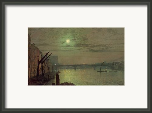 Southwark Bridge Framed Print By John Atkinson Grimshaw