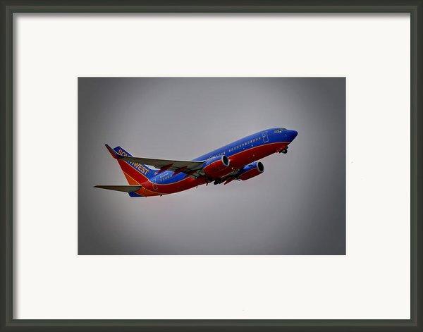 Southwest Departure Framed Print By Ricky Barnard